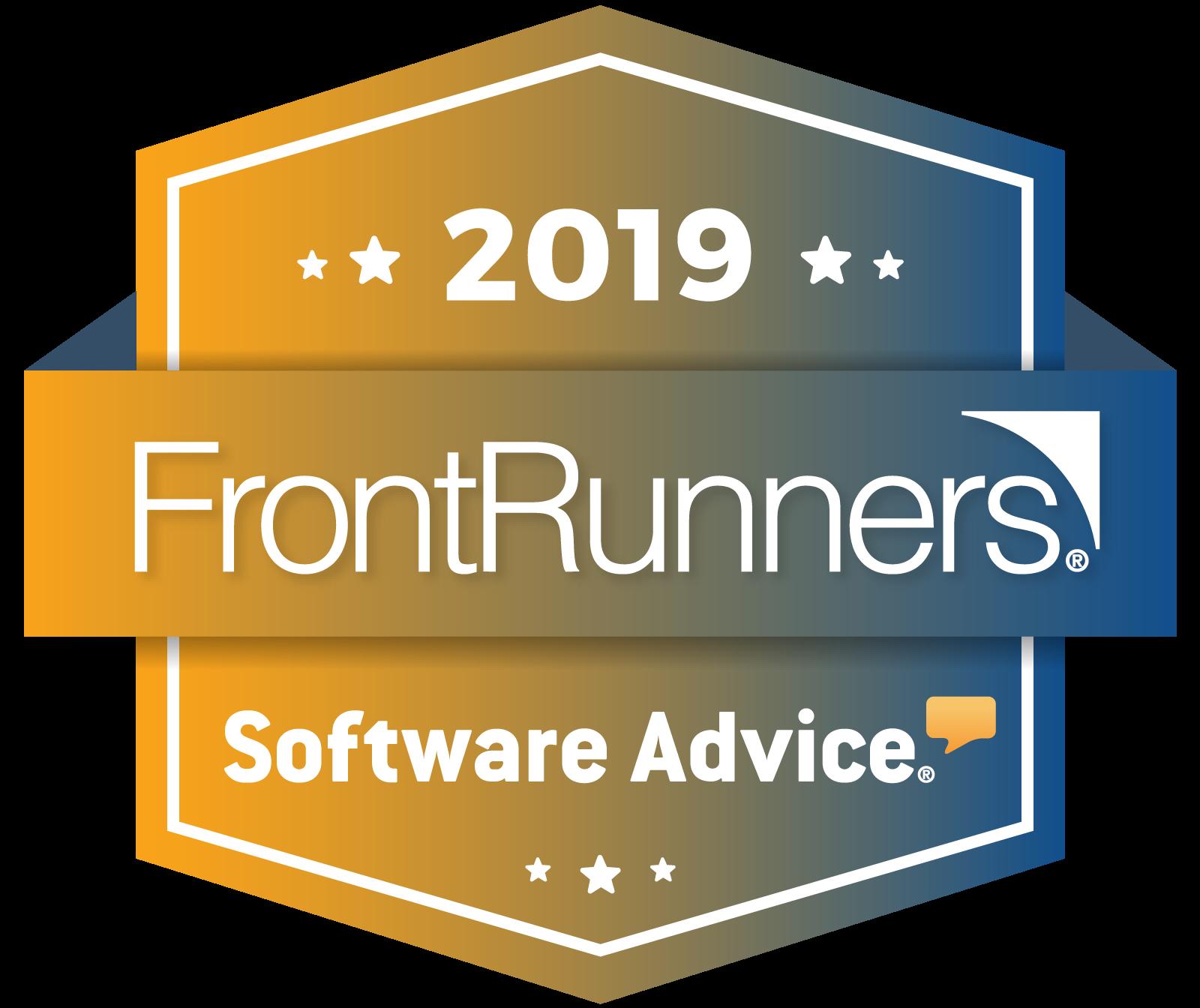 FrontRunnter Badge Software Advice 2019