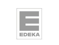 Edeka logo in grey color