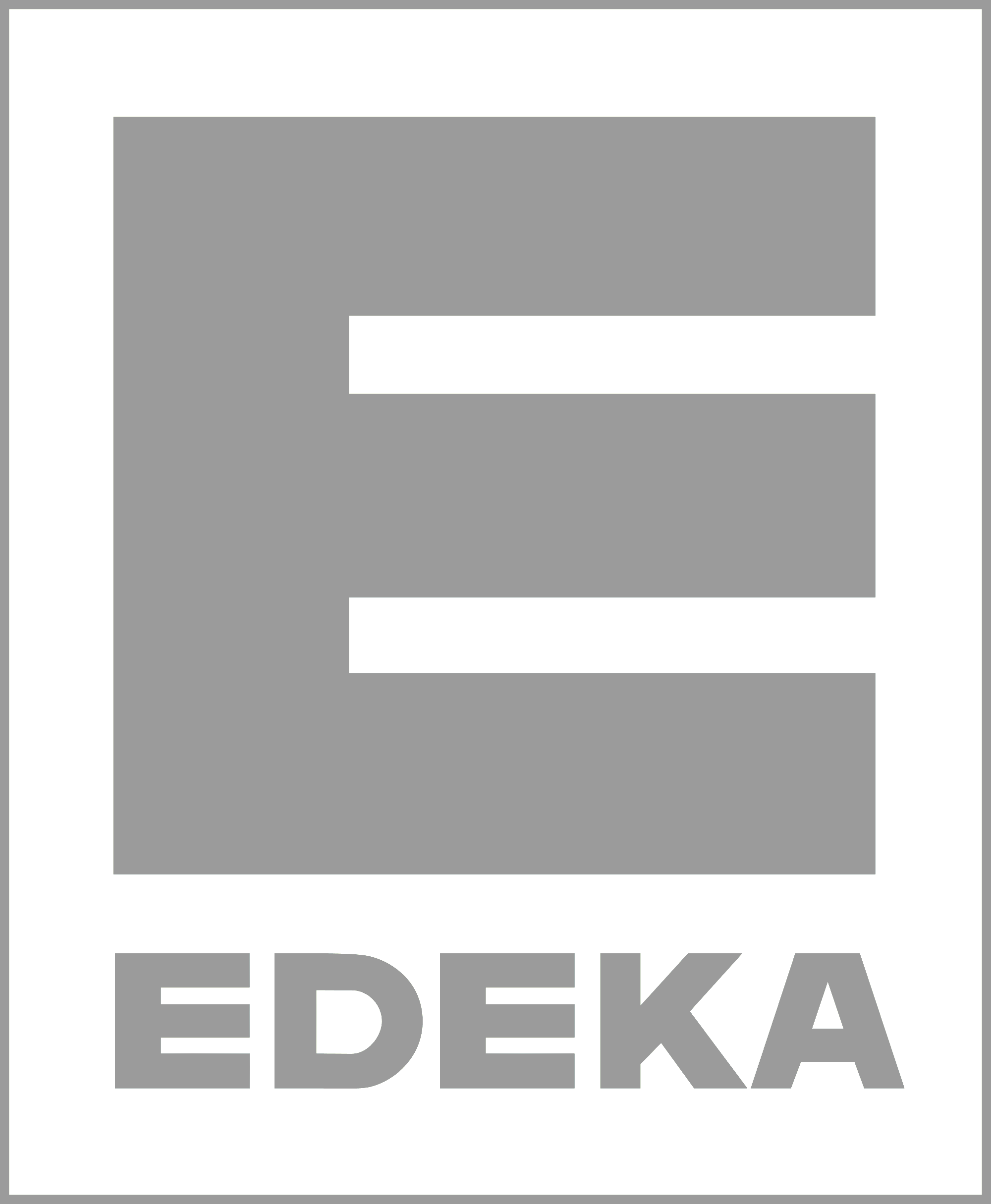 Edeka Logo in Grey