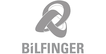 Bilfinger logo in grey color