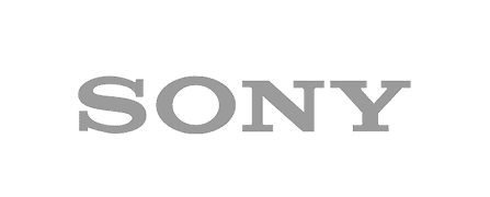 Sony logo in grey color