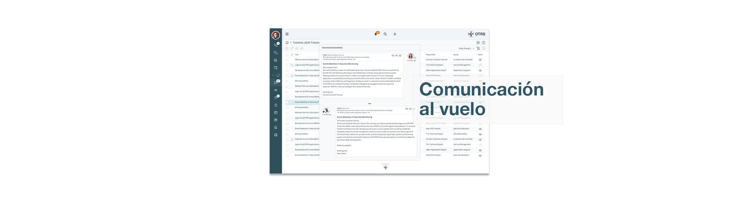 OTRS 8-Screenshot On-the-fly-communication
