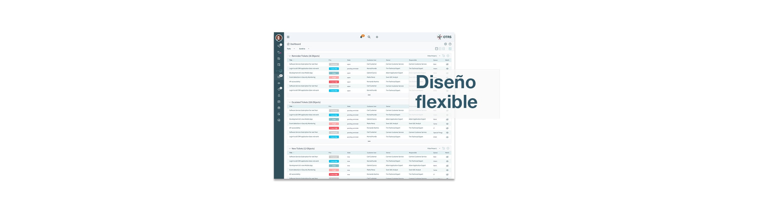 OTRS 8-Screenshot-flexible layout