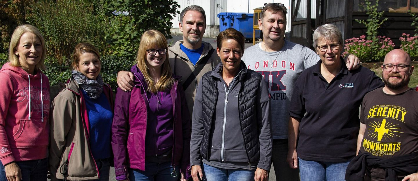 Group of OTRS employees in front of the animal shelter