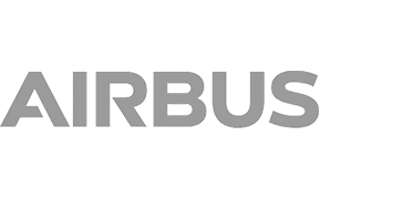 Airbus logo in grey color