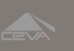 CEVA logo in grey color