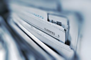 Classified Ads to illustrate Data Privacy page