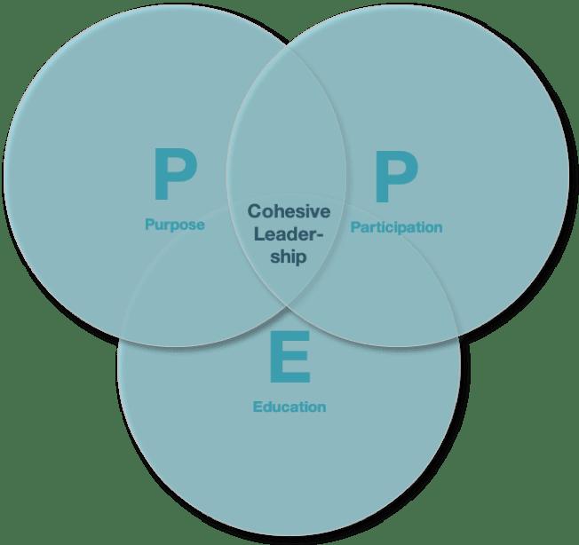 graphic explains cohensive leadership