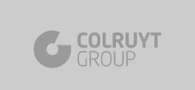 Colruyt logo in grey color