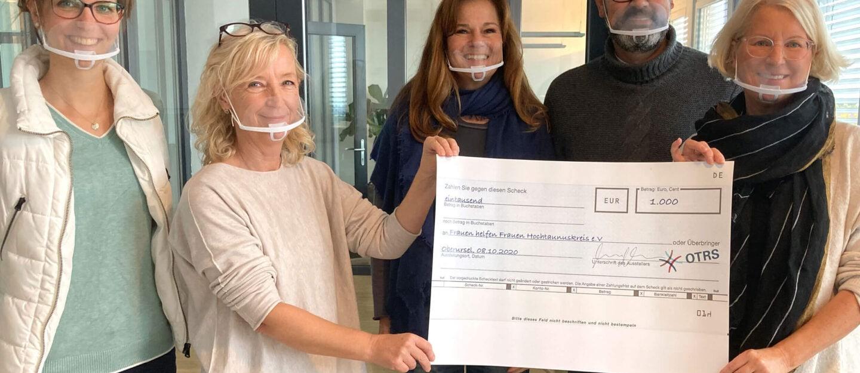 donations OTRS AG for women's shelter