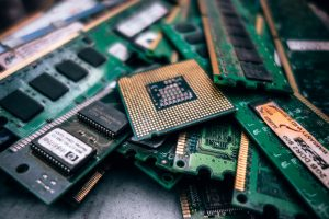 Computer chips to represent the data being protected by GDPR