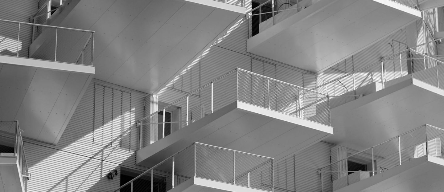 window and balcony sight in white