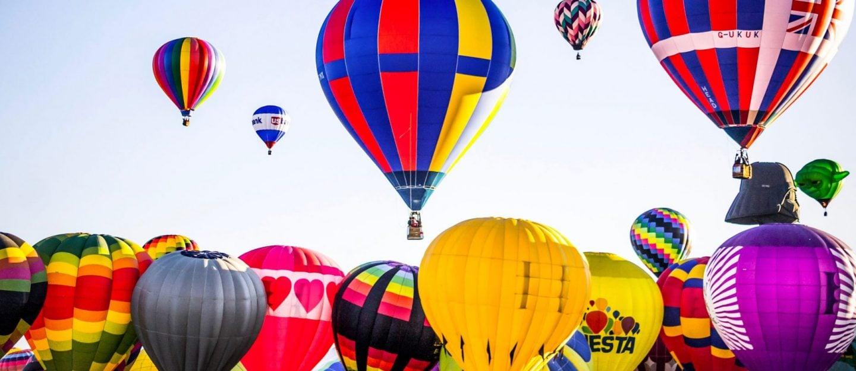 coloured hot ballons